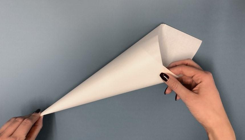 Das Hoernchen aus Toppits® Butterbrotpapier wird fixiert