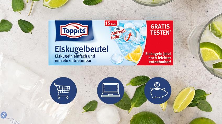 Die neuen Toppits® Eiskugelbeutel – jetzt gratis testen!