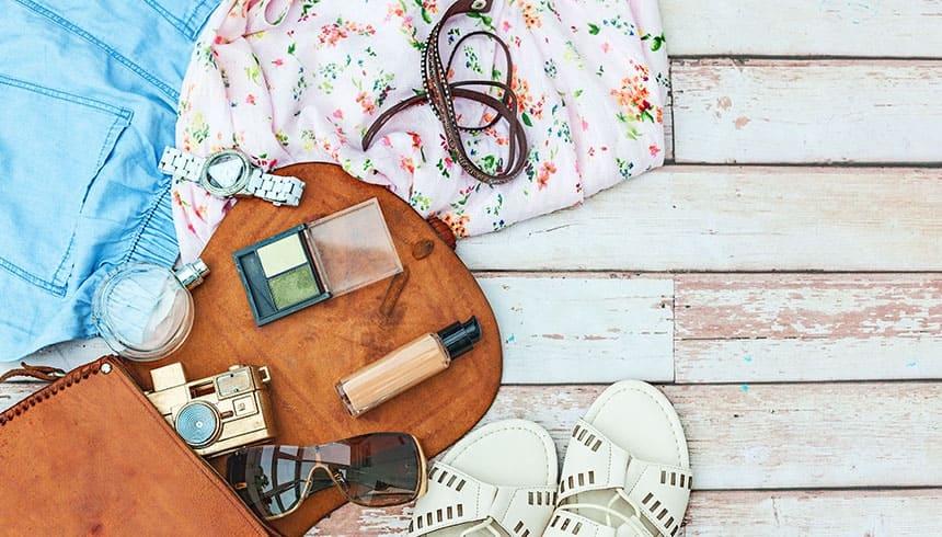 Handtasche und dessen Inhalt