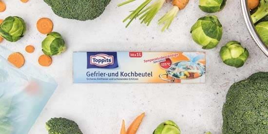 Toppits® Gefrier- und Kochbeutel