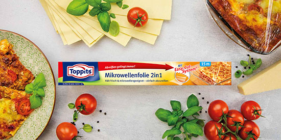 Toppits® Mikrowellenfolie 2in1