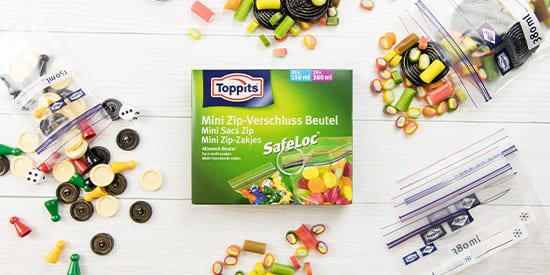 Toppits® Mini-Zip-Verschluss Beutel