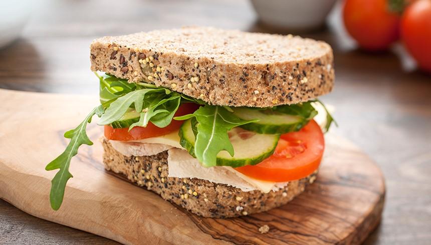 Ein dank des SafeLoc® Sandwich-Beutels frischer Pausensnack.