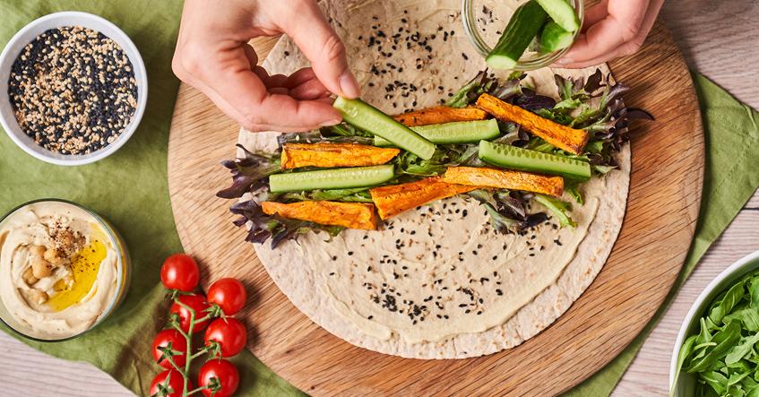 Veganer Wrap – der perfekte Snack to go an heißen Tagen