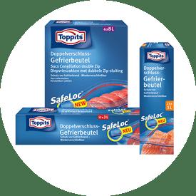 Gefrierbeutel mit Safeloc® von Toppits®